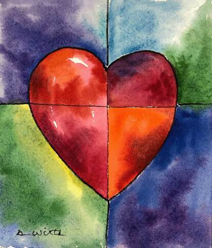 Picture of Colorful Red Heart
